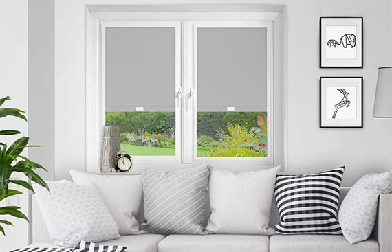Grey Perfect Fit Blackout Blinds