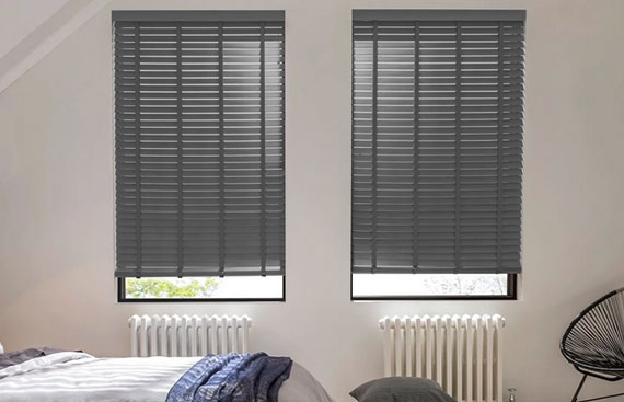 Grey Wooden Blinds