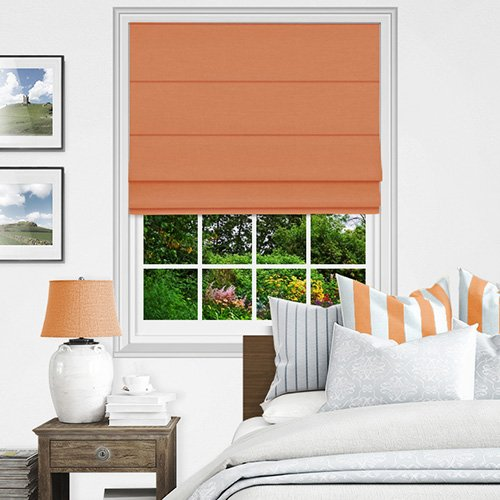 Orange Roman Blinds