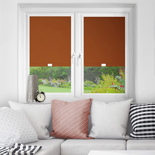 Orange Perfect Fit Blackout Blinds