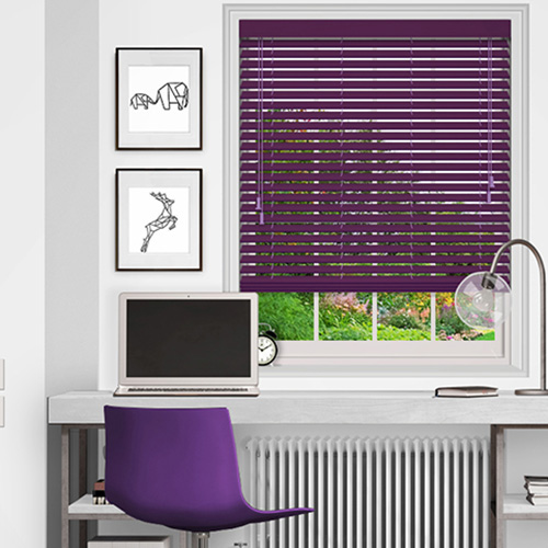 Purple Wooden Blinds