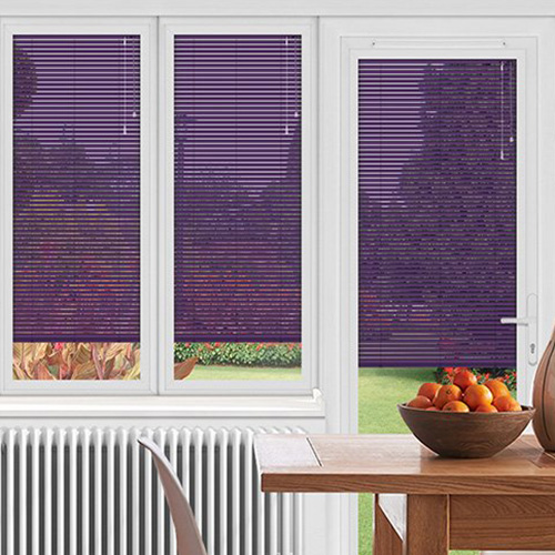 Purple Conservatory Blinds