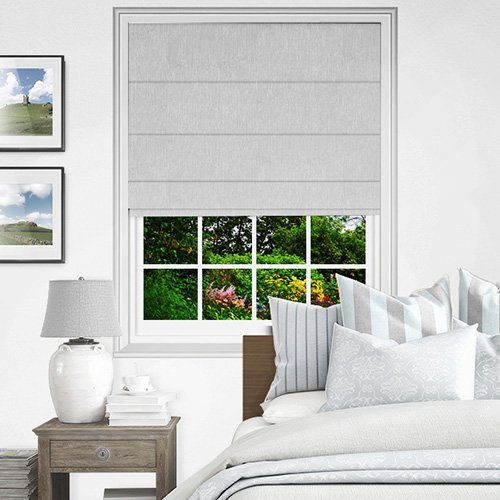 Silver Roman Blinds