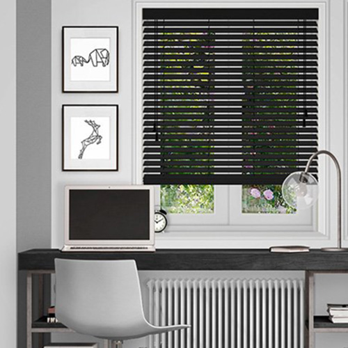 Black Wooden Blinds