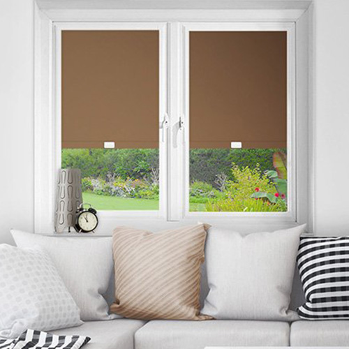 Brown Perfect Fit Blackout Blinds