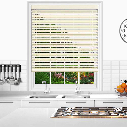 Cream & Natural Wooden Blinds