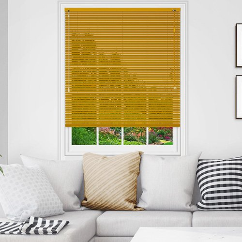 Gold Venetian Blinds