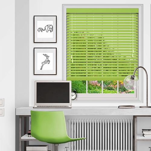 Green Wooden Blinds