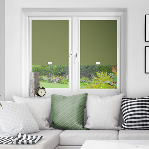 Green Perfect Fit Blackout Blinds