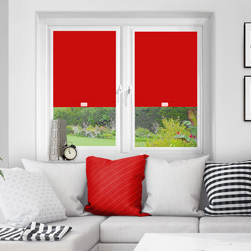 Red Perfect Fit Blackout Blinds