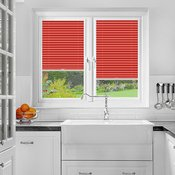 Perfect Fit Pleated Blinds Foxcote Soft Crimson