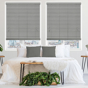 Wooden blinds Slate Faux