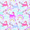 Classford Unicorns Blackout - <p>Dreams do come true with this bright unicorn and rainbow patterned fabric in shades of pink, lilac, blue and red.</p>