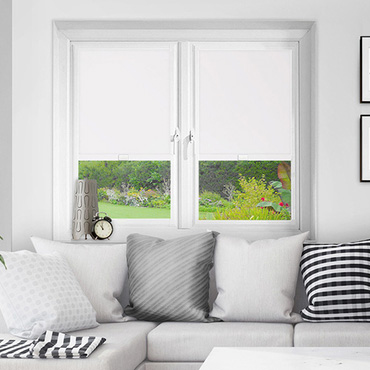 White Perfect Fit Blackout Roller Blinds