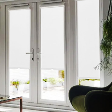 White Perfect Fit Roller Blinds