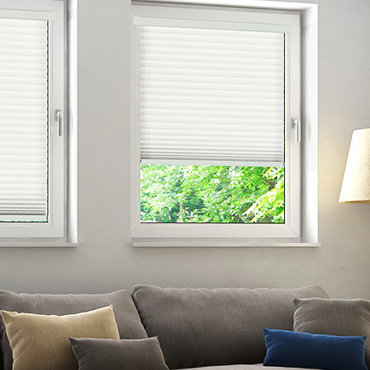 White Perfect Fit Pleated Blinds