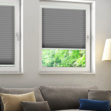 Grey Perfect Fit Pleated Blinds