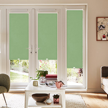 Green Perfect Fit Roller Blinds