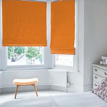 Orange Roman Blinds