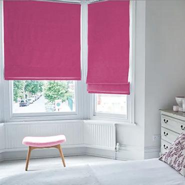 Pink Roman Blinds