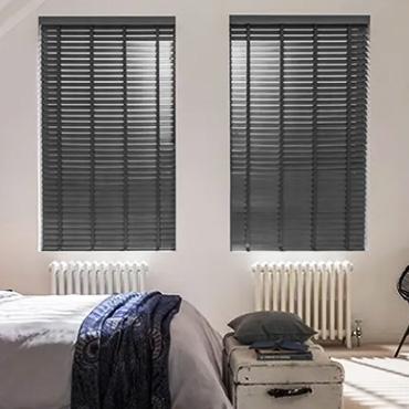 Grey Wooden Blinds
