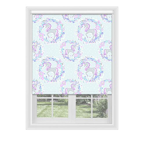 Unicorn Lilac Lifestyle Childrens Blinds