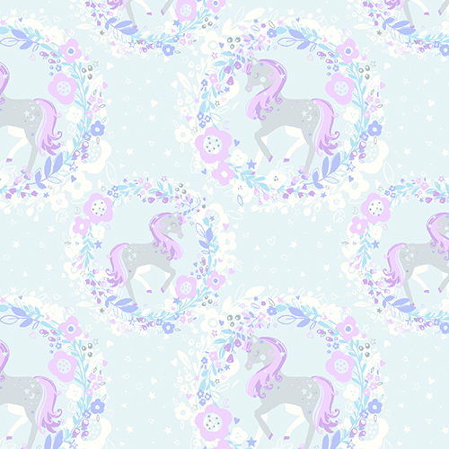 Unicorn Lilac Childrens Blinds