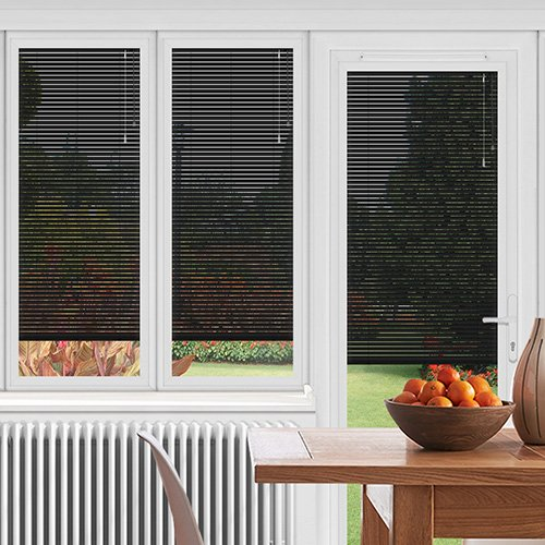 EasyFIT Matt Black Lifestyle Conservatory Blinds