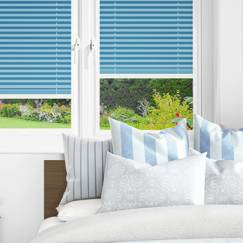Pale Blue PX4117 Lifestyle INTU Pleated Blinds