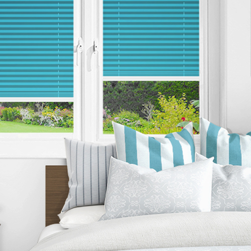Teal PX4119 Lifestyle INTU Pleated Blinds