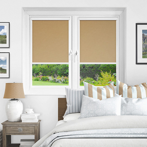 Newlyn Caramel Lifestyle INTU Roller Blinds