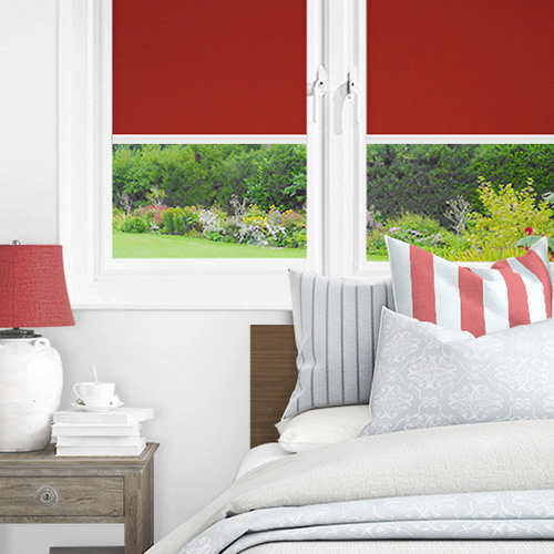 Newlyn Chelsea Red Lifestyle INTU Roller Blinds