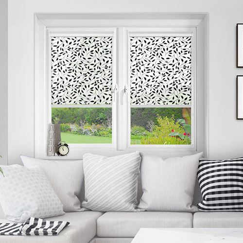 Ascot Black Lifestyle INTU Roller Blinds