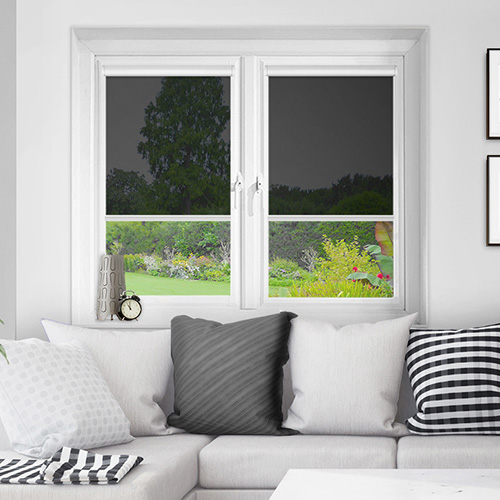 Vistaview Black Lifestyle INTU Roller Blinds