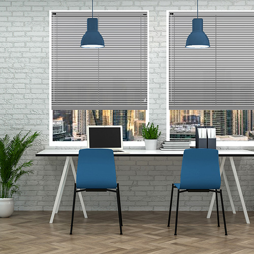 Brushed Silver 25mm Aluminium Lifestyle Office Blinds