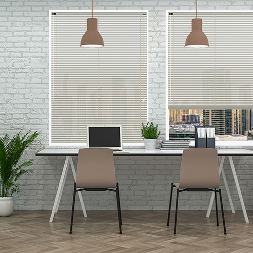 Ivory Gloss 25mm Aluminium Lifestyle Office Blinds