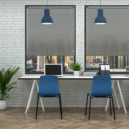 Mid Grey 25mm Aluminium Lifestyle Office Blinds