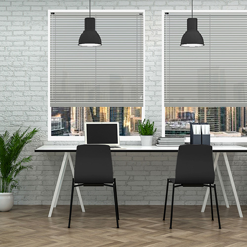 Shadow Grey 25mm Aluminium Lifestyle Office Blinds