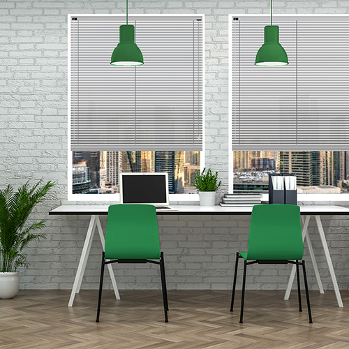 Silver 25mm Aluminium Lifestyle Office Blinds