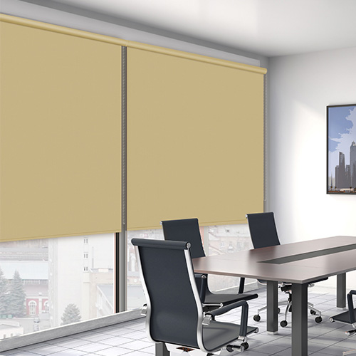 Muted Gold ROL ASC Lifestyle Office Blinds