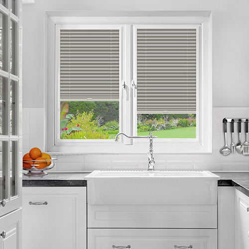 Foxcote Grey Lifestyle Perfect Fit Pleated Blinds