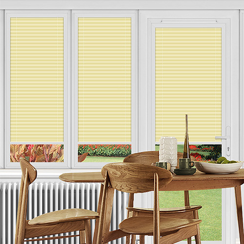 Dunball Lemon Lifestyle Perfect Fit Pleated Blinds