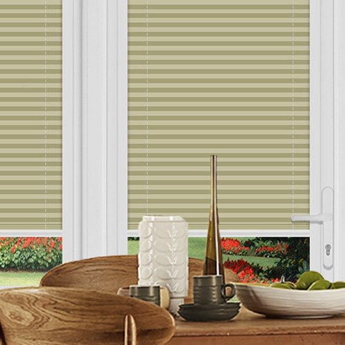Felton Stripe Cream Lifestyle Perfect Fit Pleated Blinds