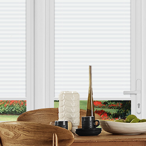 Felton Stripe White Lifestyle Perfect Fit Pleated Blinds