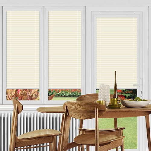 Ogden Ivory Lifestyle Perfect Fit Pleated Blinds