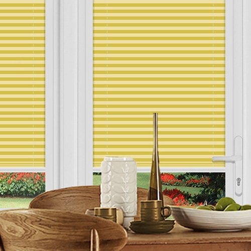 Pallister Yellow Lifestyle Perfect Fit Pleated Blinds