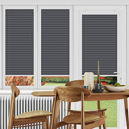 Rosewell Charcoal Lifestyle Perfect Fit Pleated Blinds