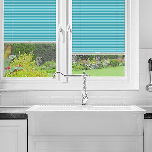 Pallister Turquoise Lifestyle Perfect Fit Pleated Blinds