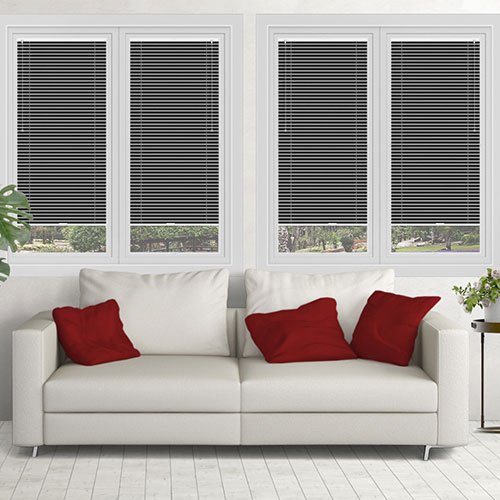 Nickel Silver Lifestyle Perfect Fit Venetian Blinds