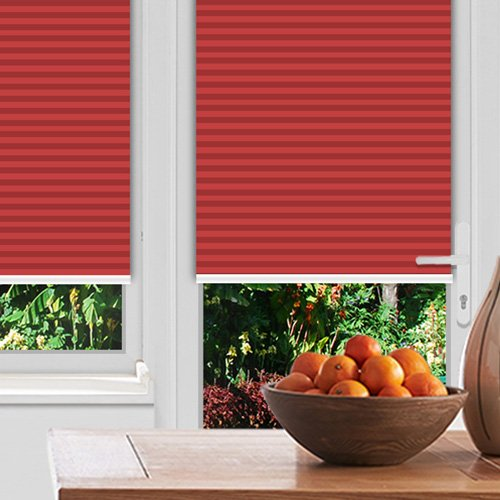 Foxcote Soft Crimson Lifestyle Pleated blinds